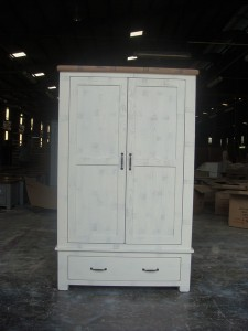 Clermont Nursery Wardrobe 2 door 1 drawer - 1